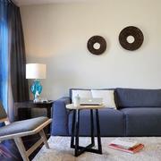 两室一厅简约风格客厅地毯装饰