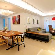 两室一厅简约风格原木餐厅装饰