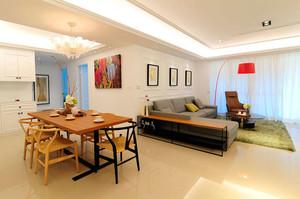沉淀心境:120平米打造现代新古典两居装修效果图