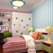 简约风格粉色系儿童房床头背景墙
