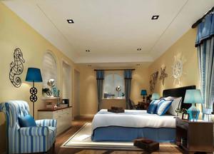 别墅简约风格客厅背景墙装饰