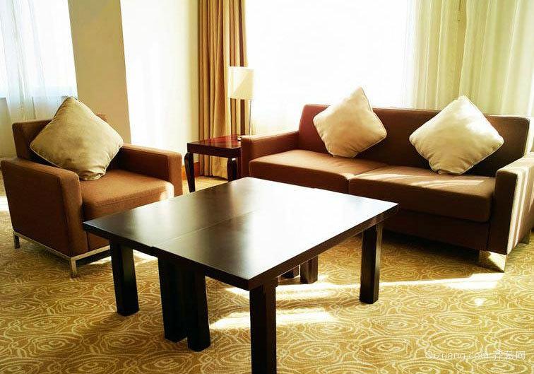 颇受消费者欢迎:大户型现代客厅沙发实木茶几装修效果图鉴赏