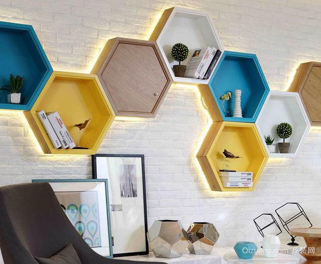 甜蜜小蜂巢:120平米创意复式楼样板间装修效果图
