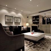后现代风格客厅简欧风格地板装饰
