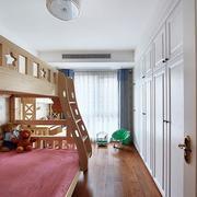 三室一厅简约风格儿童房上下铺装饰
