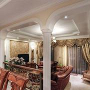欧式经典风格别墅客厅装饰