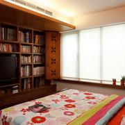 120平米老房卧室电视背景墙装饰