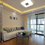 商品房简约风格客厅吊顶装饰