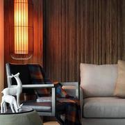 跃层简约风格客厅灯饰装饰