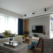 二手房简约风格客厅藤椅装饰