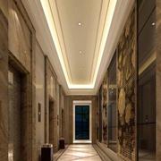 大型公司电梯走廊吊顶装饰