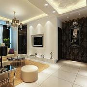 公寓简约风格客厅电视背景墙