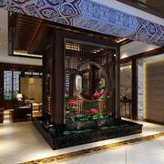 中式古韵会所屏风设计