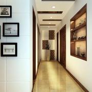 新中式风格客厅过道吊顶装饰