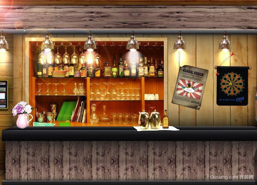 社交面广泛:时尚都市酒吧吧台装修效果图实例鉴赏