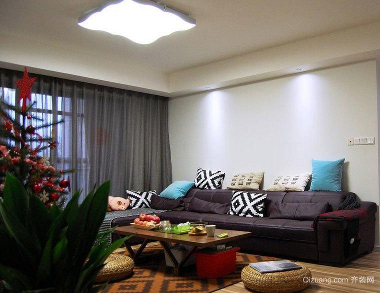 房间中的风景线:色调温和的客厅窗帘效果图大全欣赏