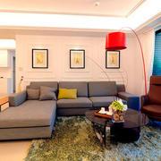 两室一厅简约风格客厅背景墙装饰