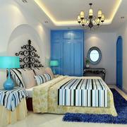 地中海风格卧室简约风格吊顶装饰