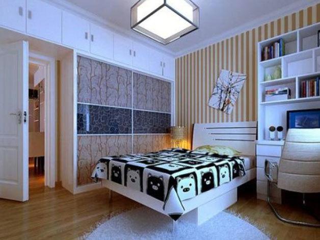 30平米炫酷个性男生儿童房装修效果图