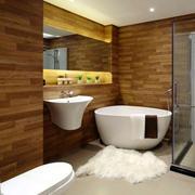 复式楼简约风格卫生间浴缸装饰