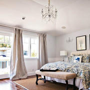 后现代风格简约卧室样板房装饰
