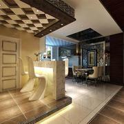 后现代风格家庭客厅吧台装饰