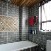 简欧风格灰色系卫生间卫浴装饰