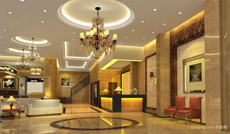 豪华与高贵兼得:酒店大堂设计效果图