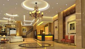 饭店欧式风格大堂吊顶装饰