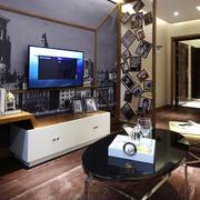混搭风格客厅电视柜设计样板房