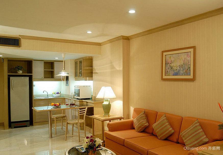 跟得上潮流的单身公寓住宅装修效果图