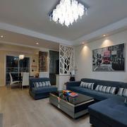 两室两厅简约风格沙发背景墙装饰