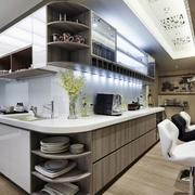 三室两厅简约风格厨房吧台装饰