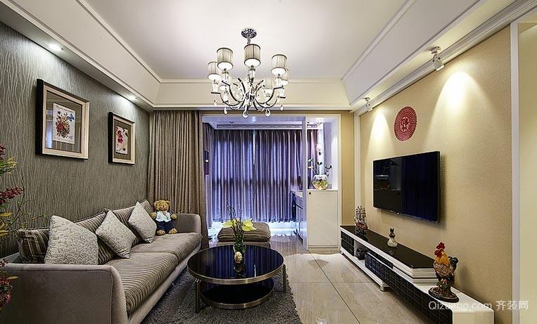 """""""福""""到了 温暖精致三室一厅家庭室内装修效果图"""