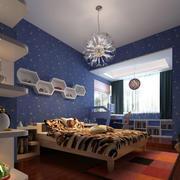 现代简约风格儿童房背景墙