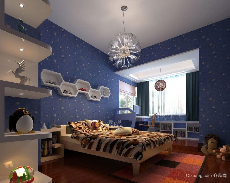 孩子们梦寐以求的:大户型多彩儿童房装修效果图鉴赏大全