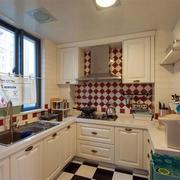 美式简约风格婚房厨房装饰