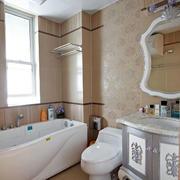 婚房简约风格浴缸效果图