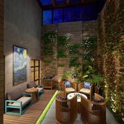 三室一厅简约风格庭院装饰