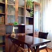 120平米房屋简约风格书房效果图