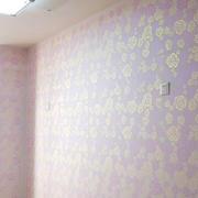 紫粉色卧室液体壁纸装饰