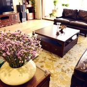 欧式经典风格客厅印花地板装饰