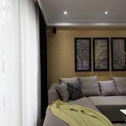 简约风格别墅客厅飘窗装饰