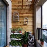 北欧风格清新原木阳台装饰