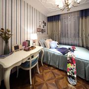 两室一厅地中海风格卧室背景墙