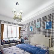 家庭简约风格卧室背景墙装饰