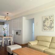 三室一厅简约风格客厅皮制沙发装饰