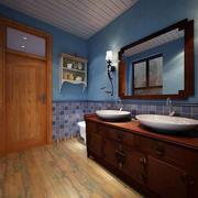 三室一厅简约风格原木镜饰装饰