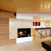 loft风格客厅电视背景墙