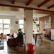 120平米简约风格客厅吊顶装饰